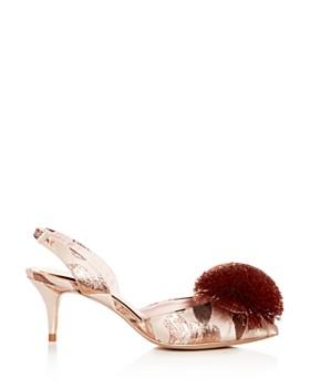 Ted Baker - Women's Mikali Slingback Pom-Pom Kitten-Heel Pumps