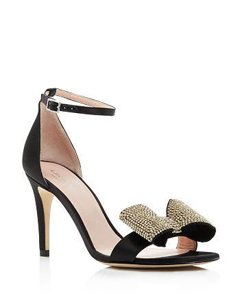 kate spade new york - Women's Gweneth Embellished Bow High-Heel Sandals