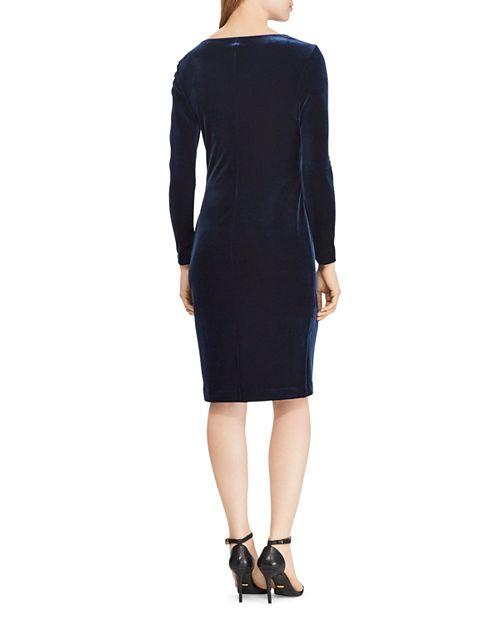 Ralph Lauren Velvet Surplice Dress Bloomingdales