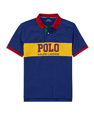 Polo Ralph Lauren Boys' Contrast Performance Polo - Big Kid