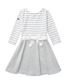 Polo Ralph Lauren Girls' Contrast Striped Dress - Big Kid - Bloomingdale's_0