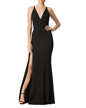 Dress the Population - Iris Plunging Mermaid Gown