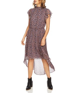 1.state Ditsy Drift High/Low Dress