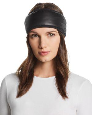 U/R All Weather Faux Fur-Lined Headband in Black
