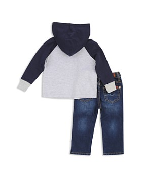 7 For All Mankind - Boys' Hooded Henley Shirt & Skinny Jeans Set - Baby