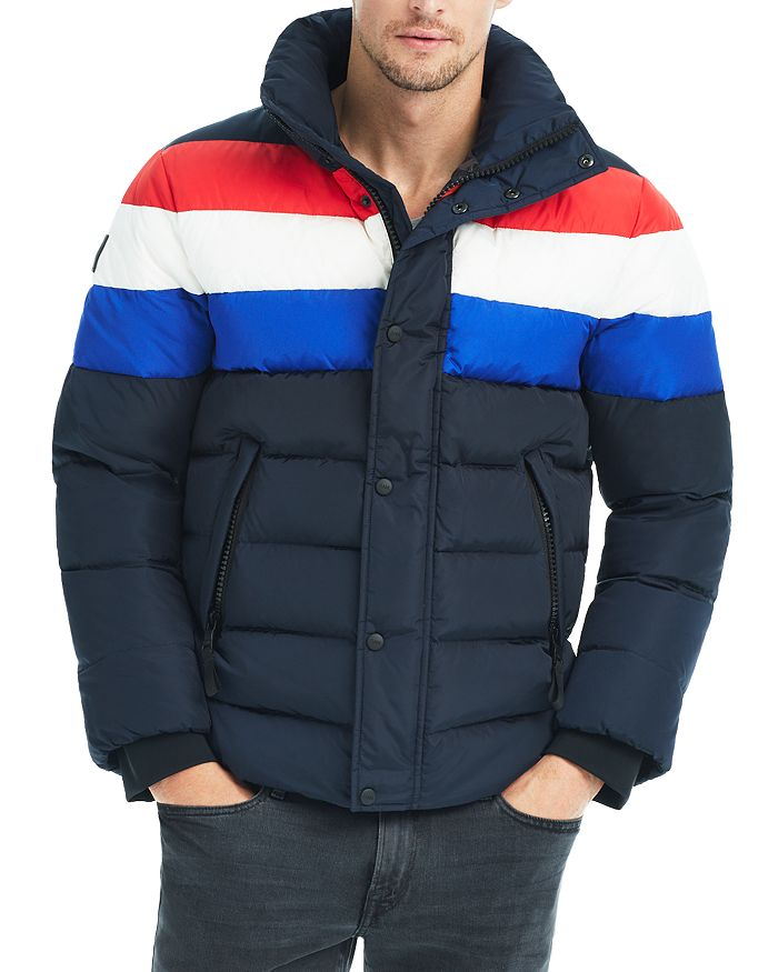 SAM. - Olympic Contrast-Stripe Puffer Jacket - 100% Exclusive
