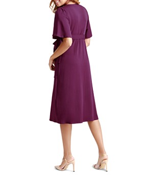 Ingrid & Isabel - Maternity Flutter-Sleeve Wrap Dress