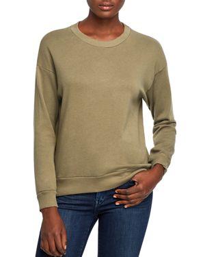 MICHELLE BY COMUNE Michelle By Comune Endicott Drop-Shoulder Sweatshirt in Olive Branch