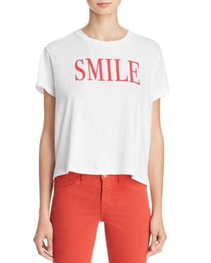 Smile Vintage Graphic Tee, White