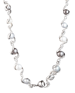 Carolee TWISTED RIBBON CULTURED FRESHWATER PEARL NECKLACE, 18
