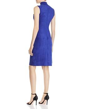 713742a82cb1d ... Elie Tahari - Londynn Faux-Suede Sheath Dress