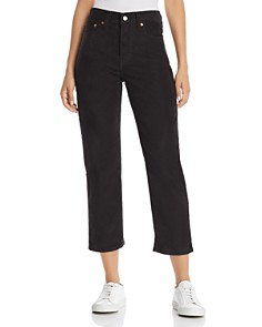 Levi's - Wedgie Straight Corduroy Jeans in Black