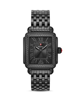 MICHELE - Black Deco Watch, 33mm x 35mm