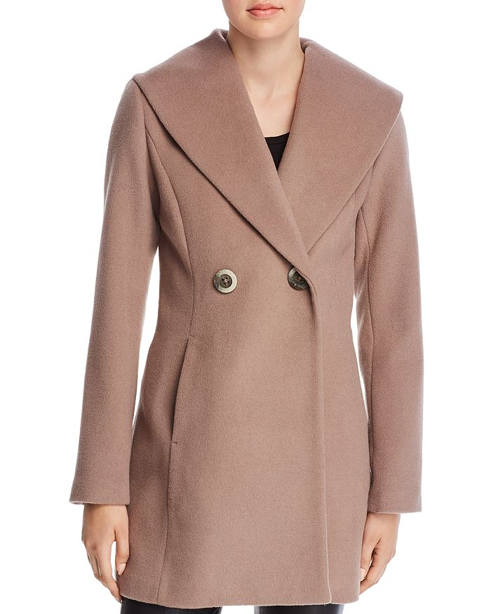 79bf6657b9d01 T Tahari - Colette Oversized Shawl Collar Coat