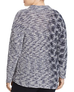 NIC and ZOE Plus - Asymmetric Marled Sweater