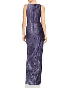 Adrianna Papell - Pleated Velvet Column Gown