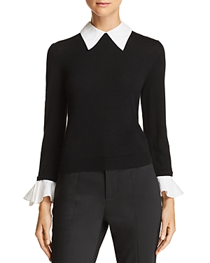 Alice And Olivia Tops ALICE + OLIVIA ASTER LAYERED-LOOK SWEATER