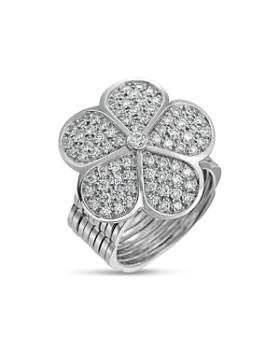 Gumuchian - 18K White Gold G Boutique Daisy Pavé Diamond Convertible Ring & Bracelet