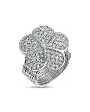GUMUCHIAN 18K White Gold G Boutique Daisy Pave Diamond Convertible Ring & Bracelet