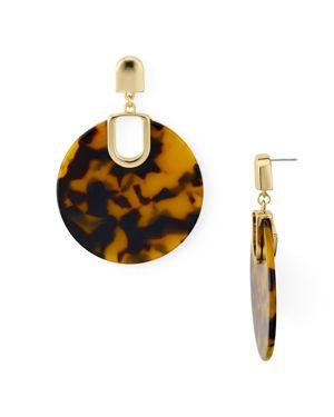 Aqua Marled Disc Drop Earrings - 100% Exclusive