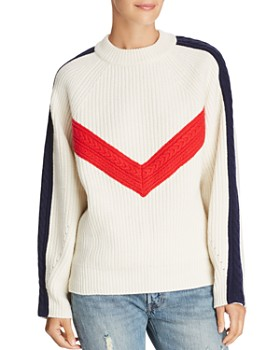 SJYP - Color-Blocked Wool Sweater