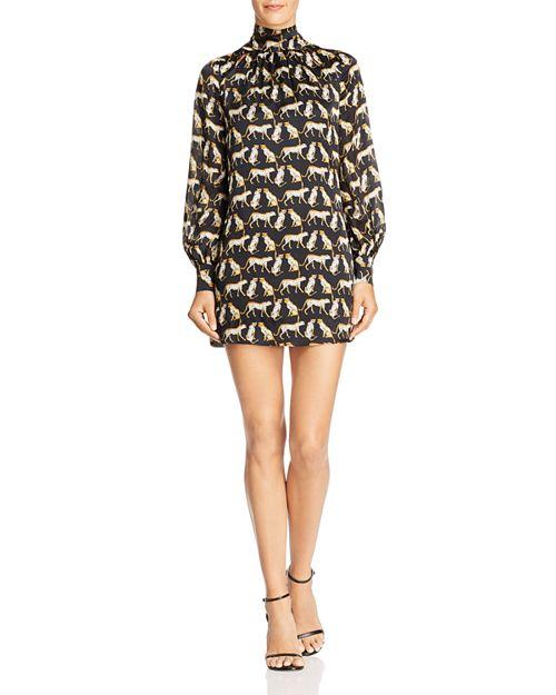 MILLY - Sherie Cheetah-Printed Silk Mini Dress