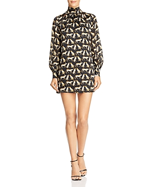 Milly Sherie Cheetah-Printed Silk Mini Dress