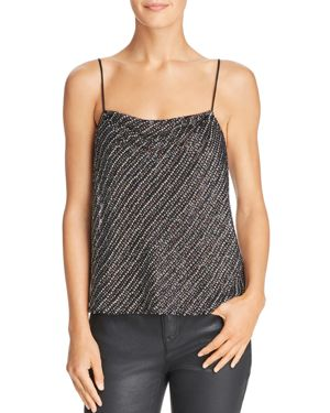 Beaded & Sequined Cowlneck Camisole, Black/Multi