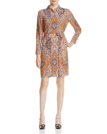 7a01ef211c3d Tory Burch - Soir eacute e Printed Silk Shirt Dress