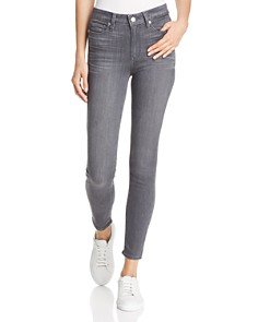 PAIGE - Hoxton Skinny Jeans in Gray Peaks