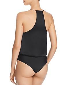CAMI NYC - Courtney Lace-Inset Blouson Bodysuit