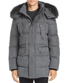 Andrew Marc - Belmont Fox Fur Trim Quilted Parka