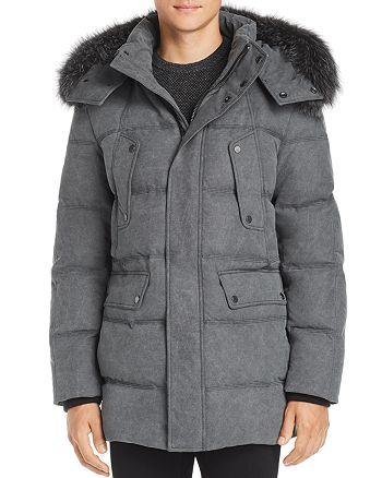 Andrew Marc - Rockland Fox Fur Trim Quilted Parka