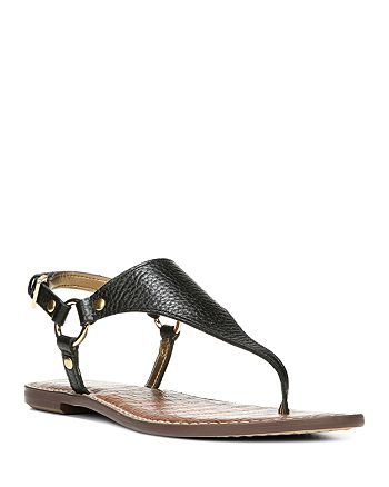 Sam Edelman - Women's Greta Leather Thong Sandals