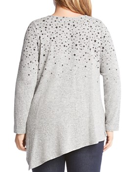 Karen Kane Plus - Star Print Asymmetric Sweater