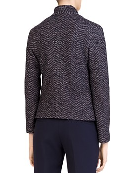 Gerard Darel - Selma Chevron-Tweed Knit Blazer