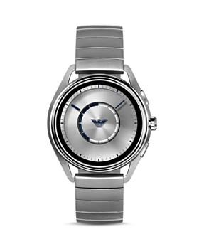 Armani - Stainless Steel Mono-Link Bracelet Touchscreen Smartwatch, 43mm