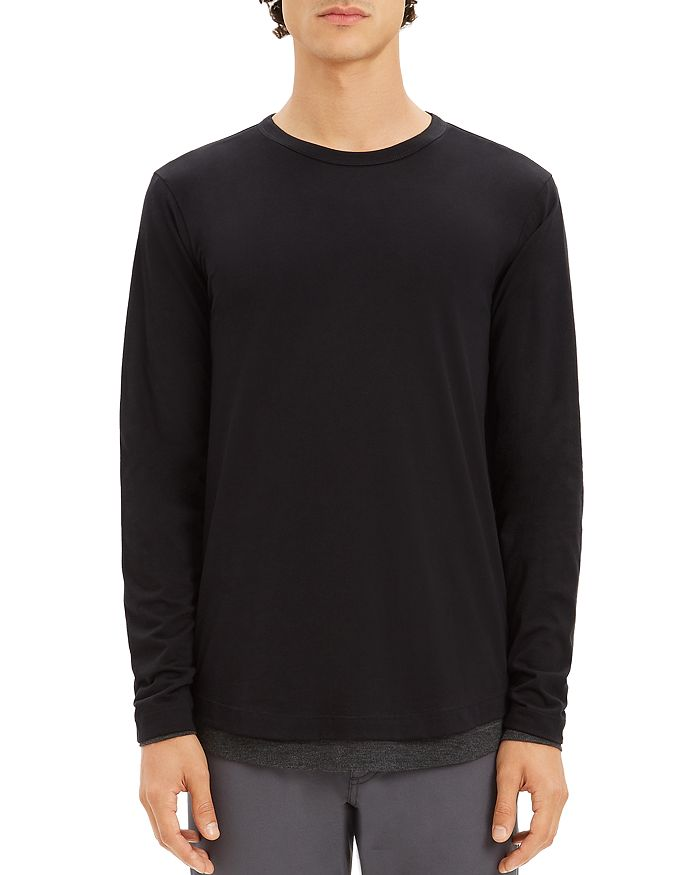 399950e623d3 Theory Double-Layer Long Sleeve Tee | Bloomingdale's