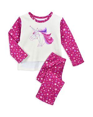 Sara's Prints Girls' Unicorn Pajama Shirt & Pants Set - Little Kid 3083999