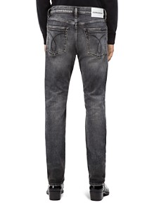 Calvin Klein Jeans - Patched Slim Fit Jeans in Monly Patch Black