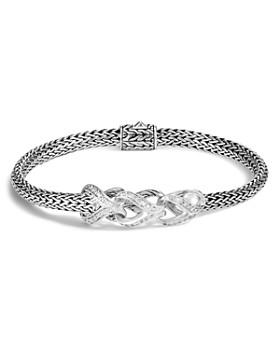 John Hardy - Sterling Silver Classic Chain Pavé Diamond Slim Bracelet