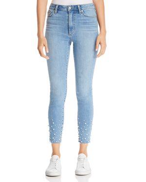 Joe's Jeans Charlie Embellished Ankle Skinny Jeans in Sisley