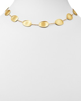 Marco Bicego - 18K Yellow Gold Lunaria Station Collar Necklace, 17""