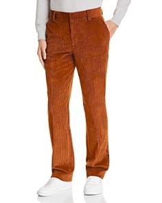 Sandro - Slim Fit Brown Corduroy Pants - 100% Exclusive