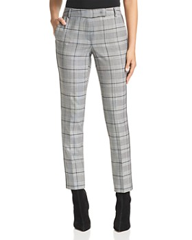Marella - Dorema Cropped Glen Plaid Pants