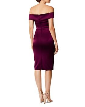 KAREN MILLEN - Off-the-Shoulder Satin Dress