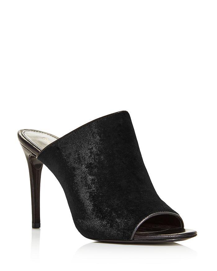Rachel Zoe - Women's Marlene Velvet High-Heel Slide Sandals