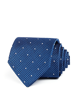 The Men's Store at Bloomingdale's Micro-Houndstooth & Dot Silk Classic Tie - 100% Exclusive