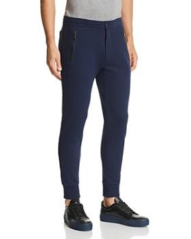 Michael Kors - Leather-Trimmed Jogger Pants