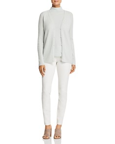 Lafayette 148 New York - Ribbed Cashmere Cardigan